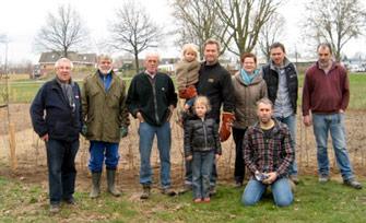 het team dat heggen heeft geplant in wijchen noord in smulbos