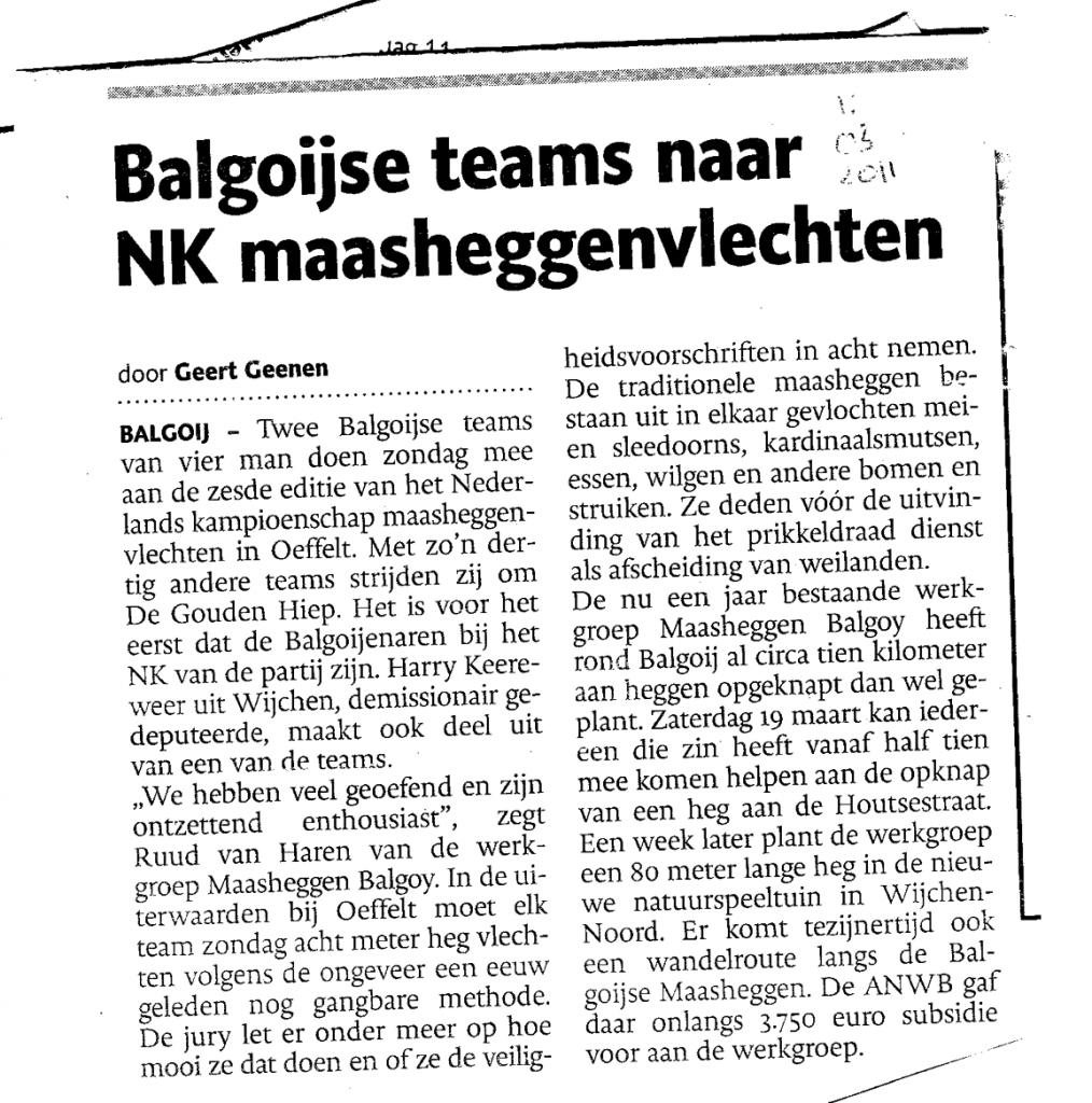 de gelderlander, 11 maart 2011