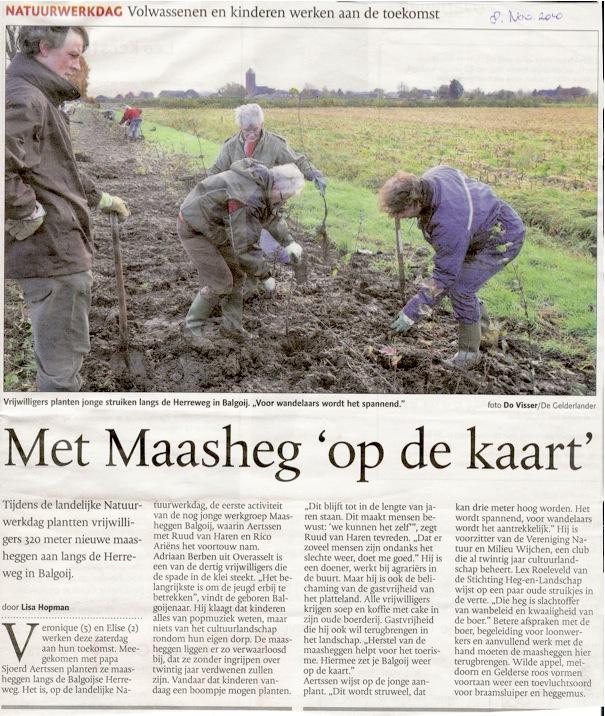 verslag natuurwerkdag 2010 de gelderlander