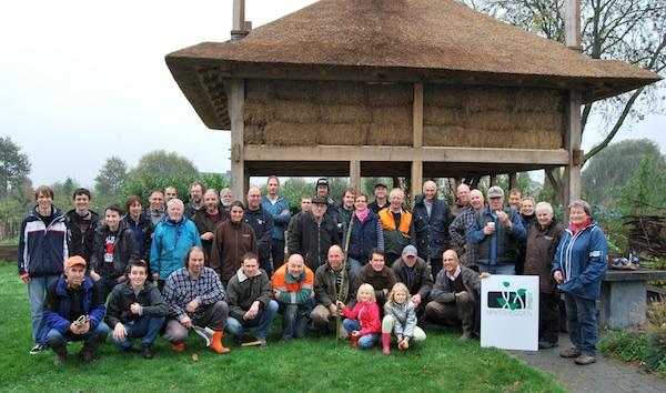 groepsfoto deelnemers natuurwerkdag maasheggen 2013